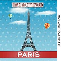 Vintage Paris Travel vacation poste