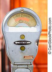 vintage parking meter detail