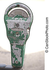 Vintage Parking Meter - Vintage parking meters line the...