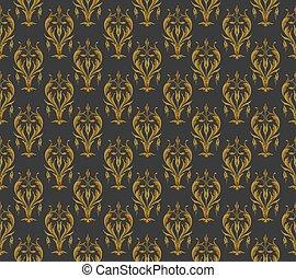 Vintage pattern on a dark background