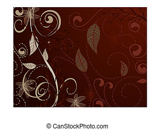 vintage pattern red brown