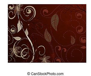 vintage pattern red brown