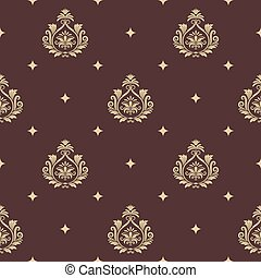 Vintage pattern seamless baroque with element