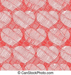 vintage pattern with hearts
