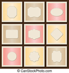 Vintage patterned cards templates set.