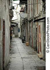 vintage pavement alley in Macau