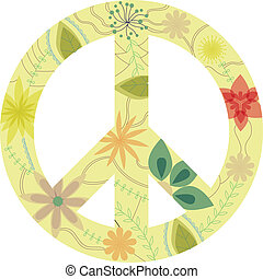 Vintage peace sign - vecto isolted vintage peace sign eps 10