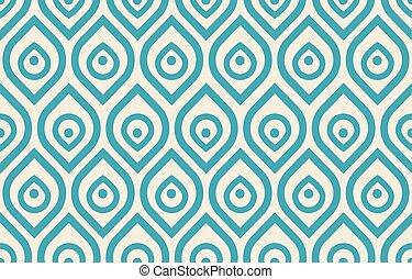Vintage peacock pattern