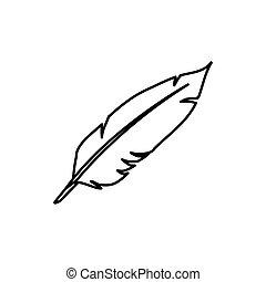 Vintage pen feather