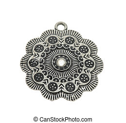 Vintage pendant isolated on white