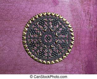 Vintage pendant on purple