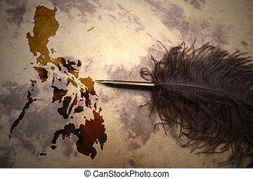 Vintage Philippines map