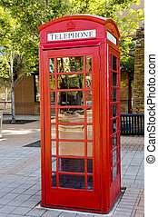 Vintage phonebox  A vintage red british telephone box with