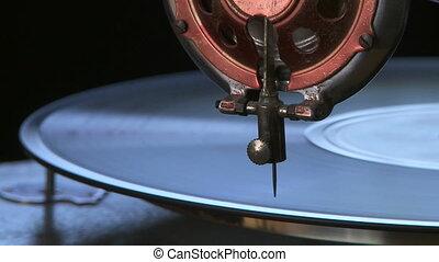 Vintage phonograph player