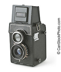 Vintage photo camera - Vintage two lens photo camera ...