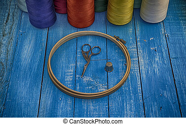 vintage photo embroidery accessories