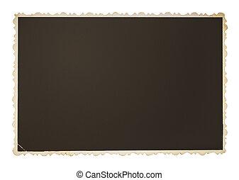 Vintage photo frame isolated