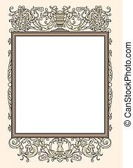 vintage photo frame ornamental vect