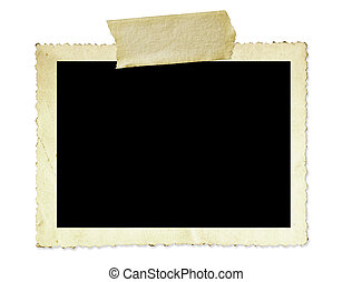 Vintage Photo Frame - Vintage photo frame, with scalloped...