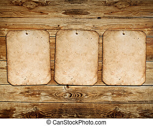 Vintage photo frames on wood background