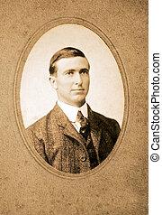 Vintage Photo of a Man - An original vintage photograph of a...