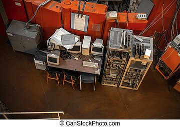 Vintage photo of obsolete technology - vintage photo of...