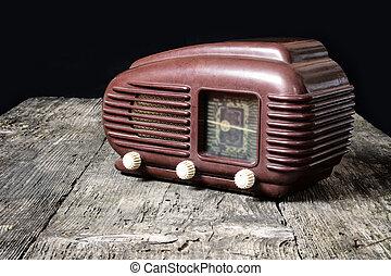 Vintage photo of old radio