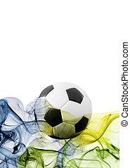 Vintage photo of soccer ball Brazil 2014
