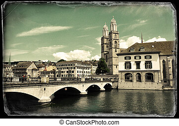 Vintage photo of Zurich