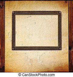 Vintage photoframe - Grunge background - vintage photoframe...