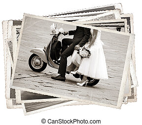Vintage photos with newlywed - Vintage photos with Young...