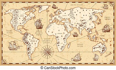 Physical world map highly detailed physical map of the eps vintage physical world map with rivers and mountains vector illustration gumiabroncs Choice Image