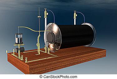 Vintage physics, Ruhmkorff inductor