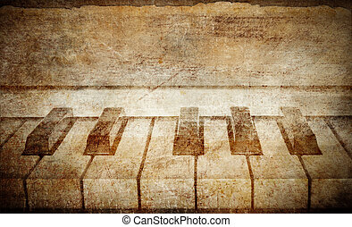 vintage piano background