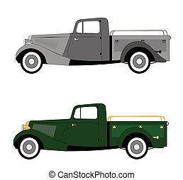 vintage pickup truck from forties