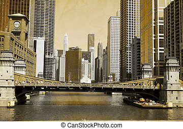 Vintage Picture Effect - Chicago