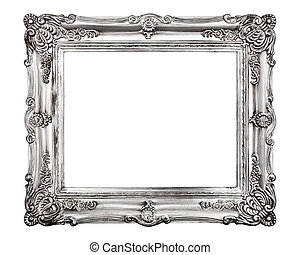 Vintage picture frame, isolated on white background