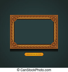 Vintage Picture Frame on the wall.