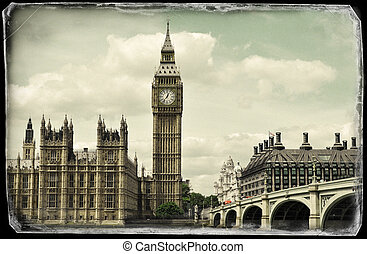 Vintage picture of Big Ben