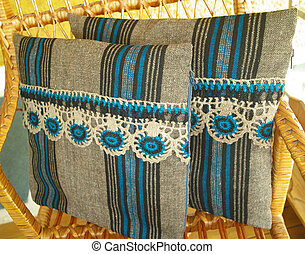Vintage pillowcase handwoven - handmade product
