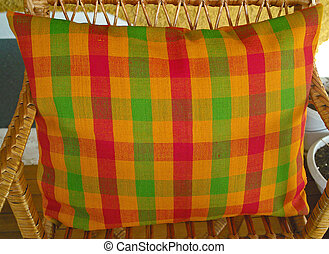 Vintage pillowcase handwoven