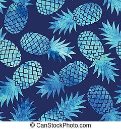 Vintage pineapple seamless - Vintage vector pineapple...