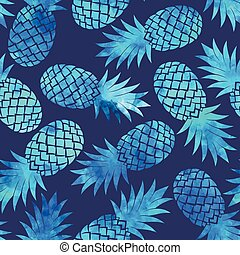 Vintage pineapple seamless - Vintage vector pineapple...