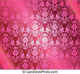 Vintage pink background with floral
