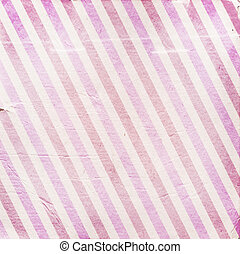 Vintage pink diagonal striped paper background