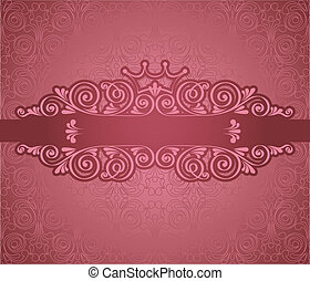 Vintage pink frame on background - Vintage pink frame on...
