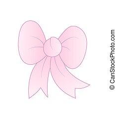Gift Ribbon Bow - Vintage Pink Gift Ribbon Bow Vector ...