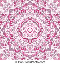 vintage pink mandala background