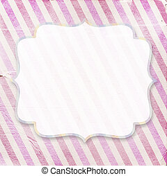 Vintage pinkdiagonal striped paper background with a place for your text