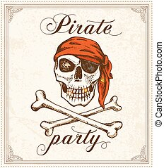 Vintage pirate background